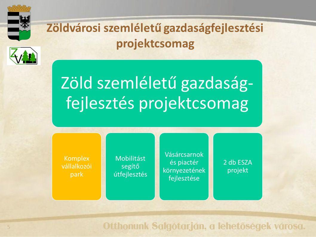 5 Zöldvárosi szemléletű gazdaságfejlesztési projektcsomag