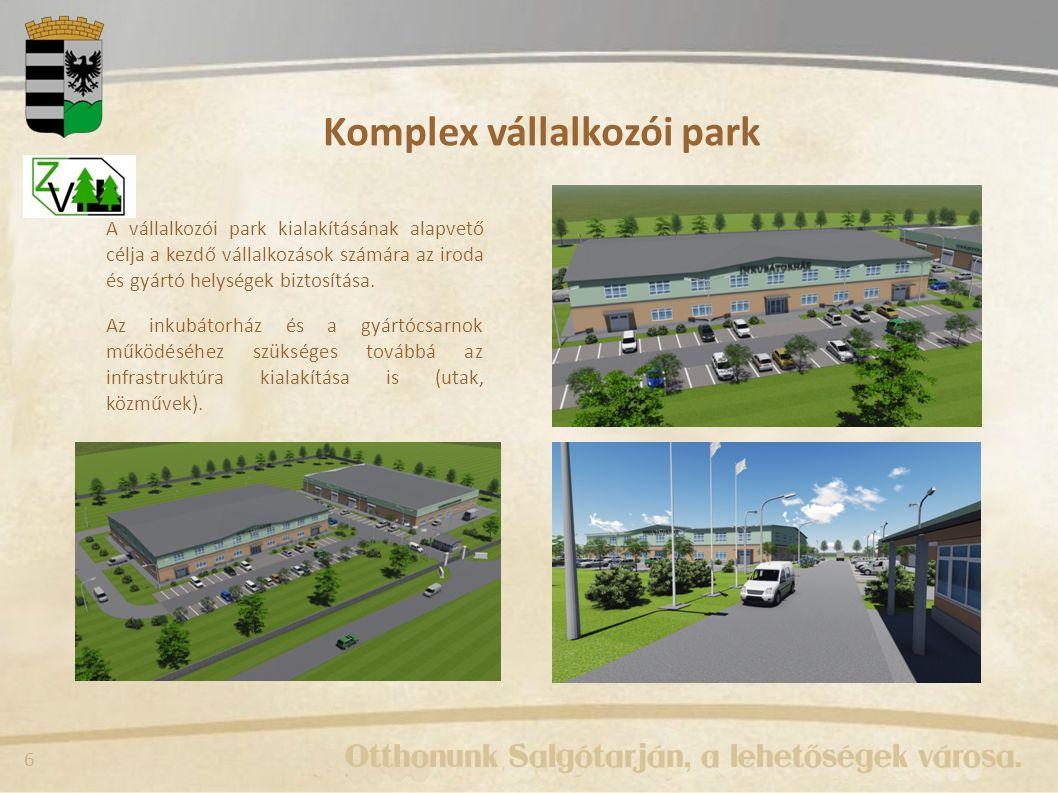 7 Mobilitást fejlesztő útfejlesztések A projektben tervezett fejlesztések: - Csokonai út felújítása, - Baglyas - Idegér összekötő út kiépítése, - Sugár út - Ipari Park összekötő út kiépítése A Csokonai út felújítása 1,7 km hosszban történik meg.