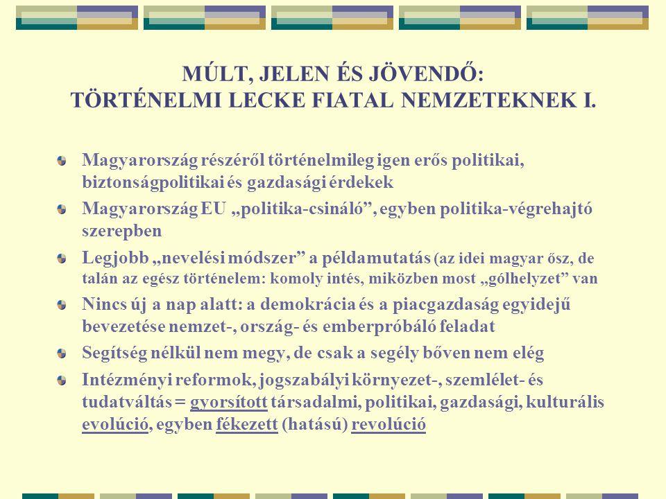 MÚLT, JELEN ÉS JÖVENDŐ: TÖRTÉNELMI LECKE FIATAL NEMZETEKNEK II.