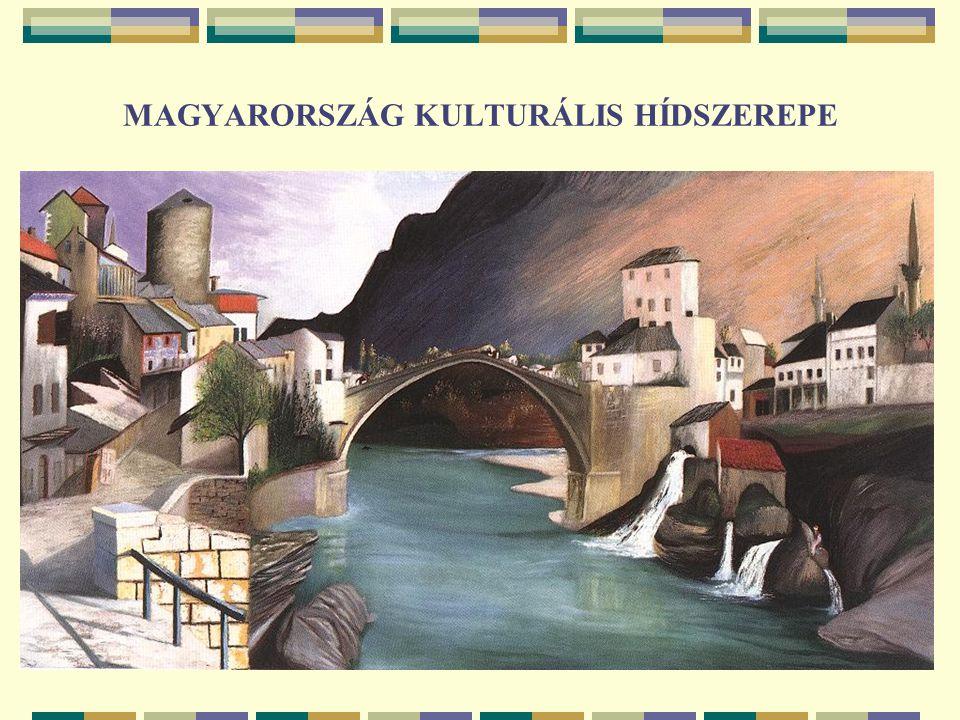 MAGYARORSZÁG TÖRTÉNELMI HÍDSZEREPE: MÚLT, JELEN ÉS JÖVENDŐ Mostari híd: török mecset-konstruktőr építette (1566), horvát soldat-katona megvágta (1993), magyar építész-gyerek gyógyította (2000) – a térség sok-ezeréves történelmének esszenciája, beleértve Csontváry Kosztka Tivadar életét és munkásságát, csakúgy, mint a magyar orientológusok eddigi eredményeit Szellemi export: hídtervezés, egyetemi tananyagok és doktori iskolák képzési anyagának tervezése, akkreditálása, végrehajtása Nándorfehérvár ostroma 14 56.