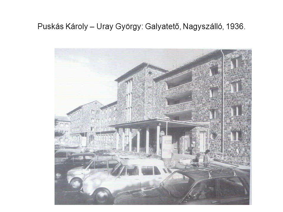 Puskás Károly – Uray György: Galyatető, Nagyszálló, 1936.