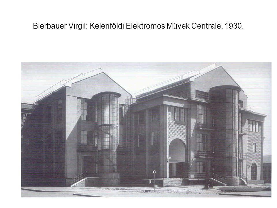 Bierbauer Virgil: Kelenföldi Elektromos Művek Centrálé, 1930.