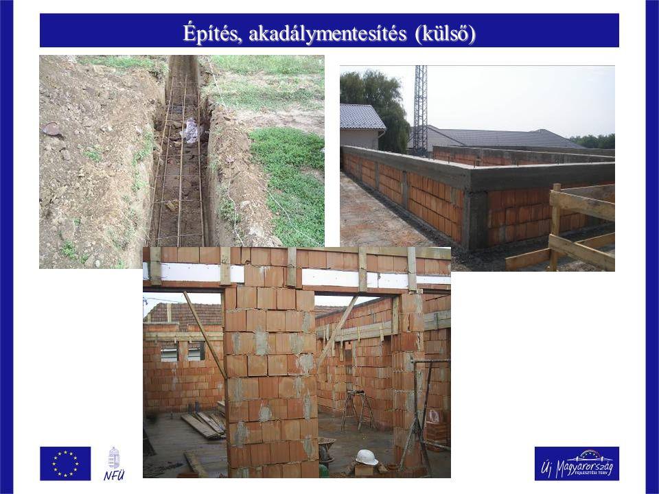 Építés, akadálymentesítés (külső)
