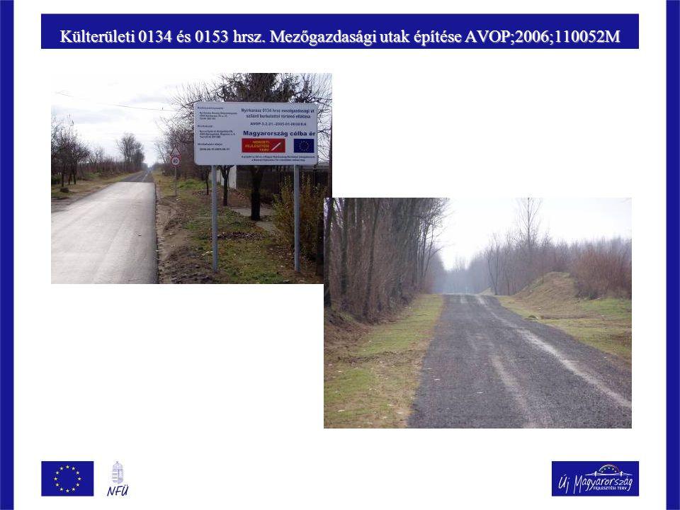 Külterületi 0134 és 0153 hrsz. Mezőgazdasági utak építése AVOP;2006;110052M