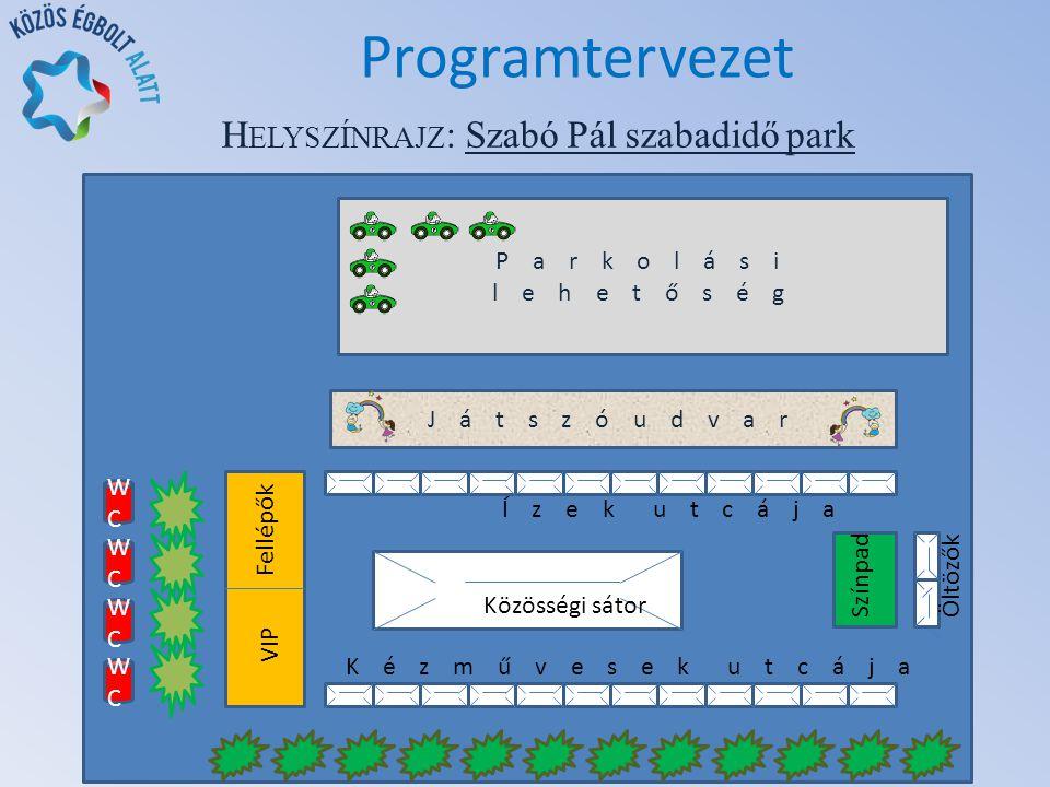 H ELYSZÍNRAJZ : Szabó Pál szabadidő park Programtervezet 2737 Ceglédbercel, Pesti út 61.