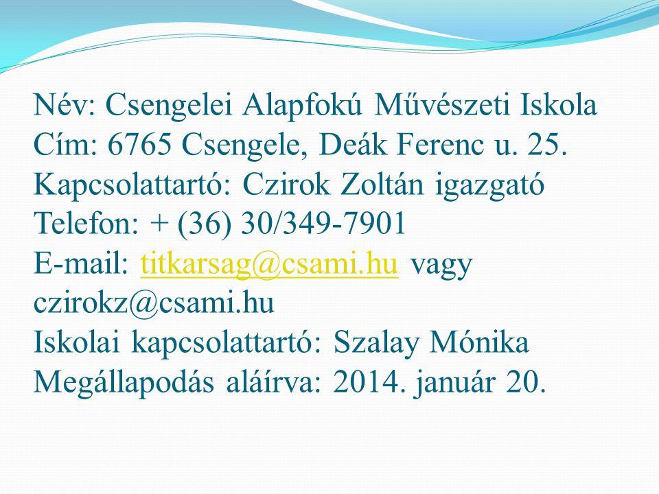 Név: NAGYÍTÓ – Középiskolások Iskolán Kívüli Képzése - ALAPÍTVÁNY Cím: 6722 Szeged, Kossuth L.