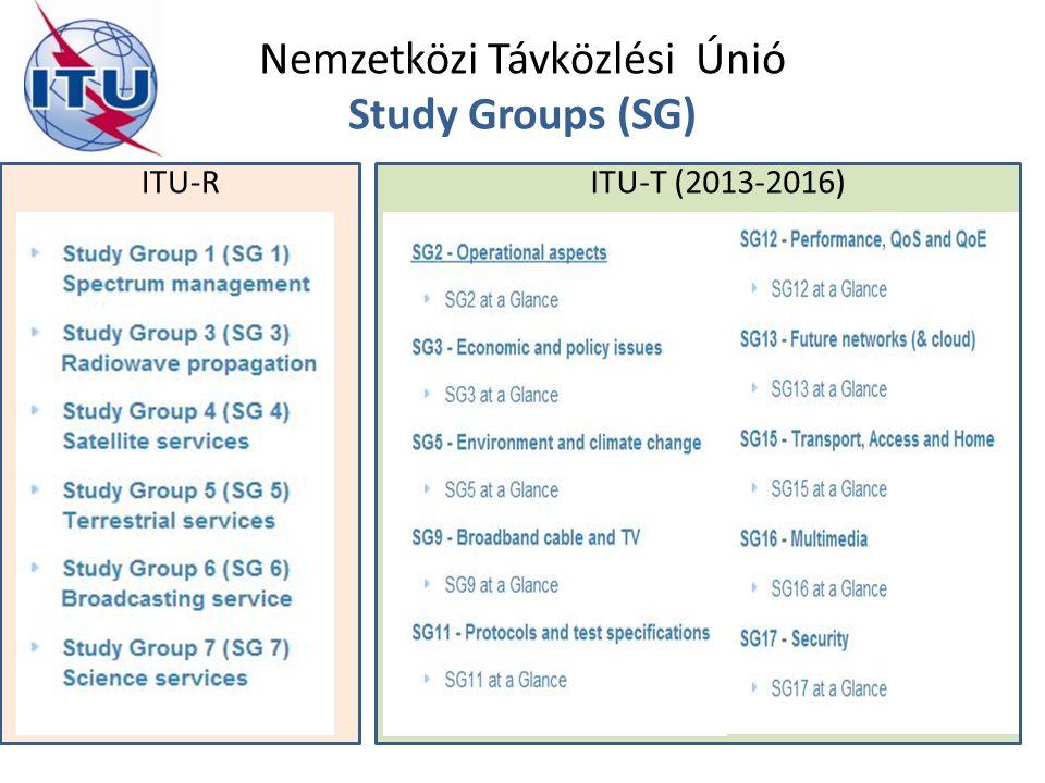 Nemzetközi Távközlési Únió Study Groups (SG) ITU-RITU-T (2013-2016)