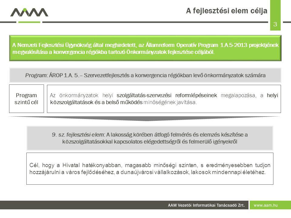 4 Tartalomjegyzék A fejlesztési elem célja21 Legfontosabb megállapítások, következtetések63 A fejlesztés lebonyolítása – módszertani megközelítés42