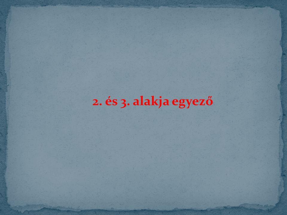 2. és 3. alakja egyező