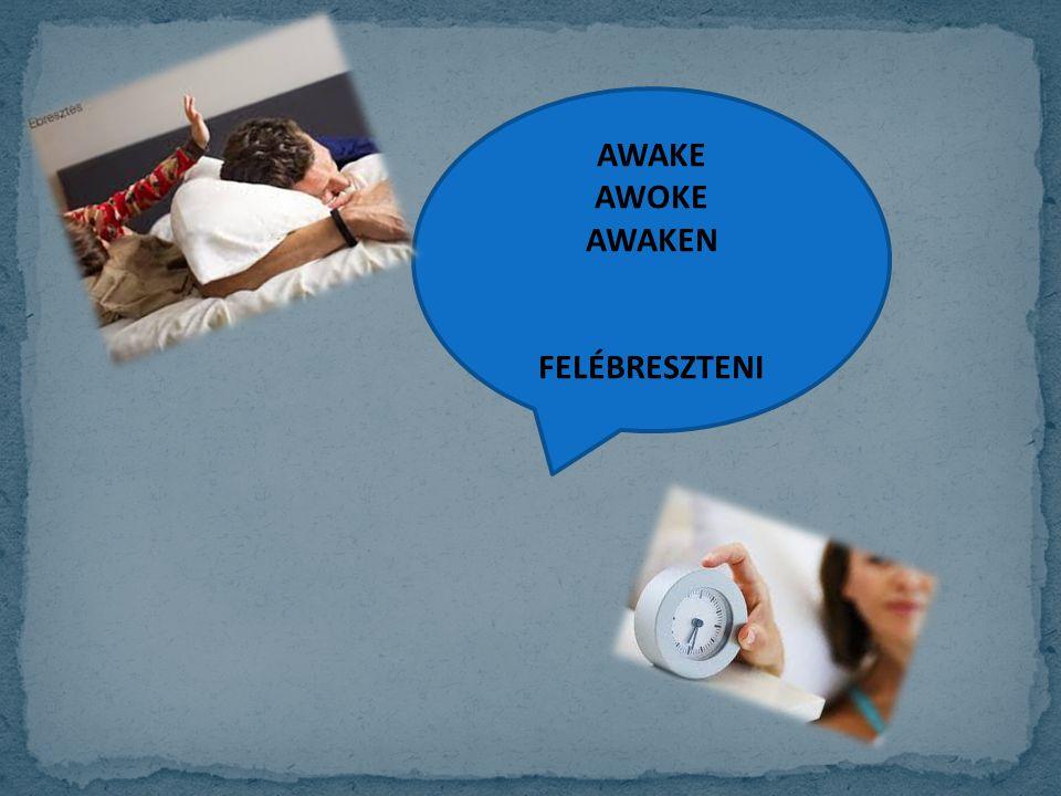 AWAKE AWOKE AWAKEN FELÉBRESZTENI