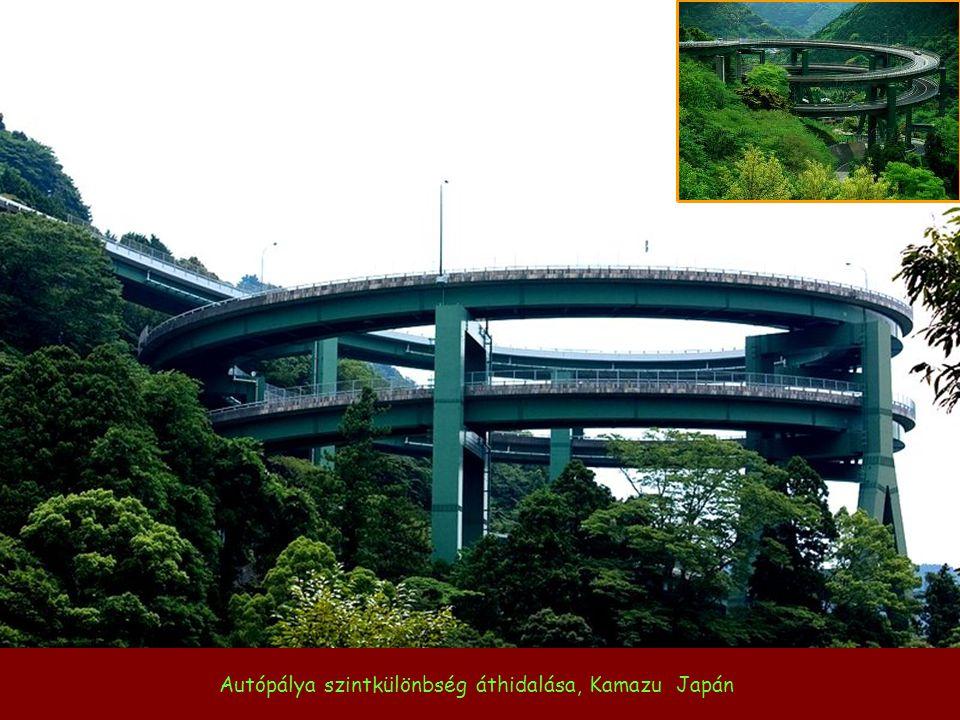 Városi autópálya szintkülönbség áthidalása, Sanghai Kína
