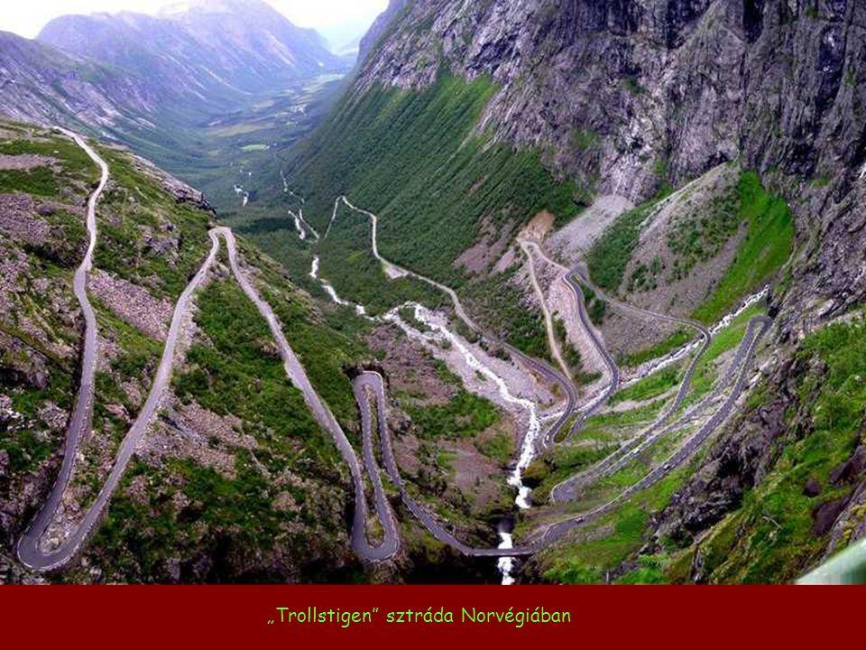 """""""Trollstigen sztráda Norvégiában"""