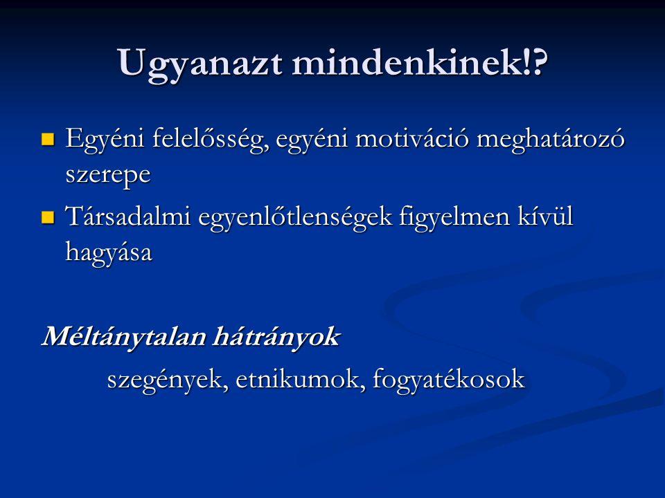 Néhány ajánlott szakirodalom Csányi Yvonne (2000): A speciális nevelési szükségletű gyermekek és fiatalok integrált nevelése-oktatása.