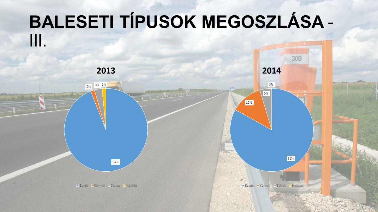 BALESETI TÍPUSOK MEGOSZLÁSA - III. 20132014