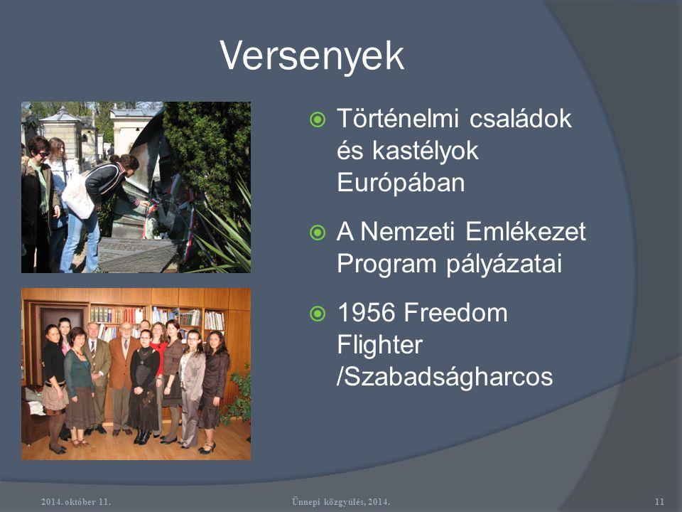 Kiadványok 2014. október 11.10Ünnepi közgyűlés, 2014.