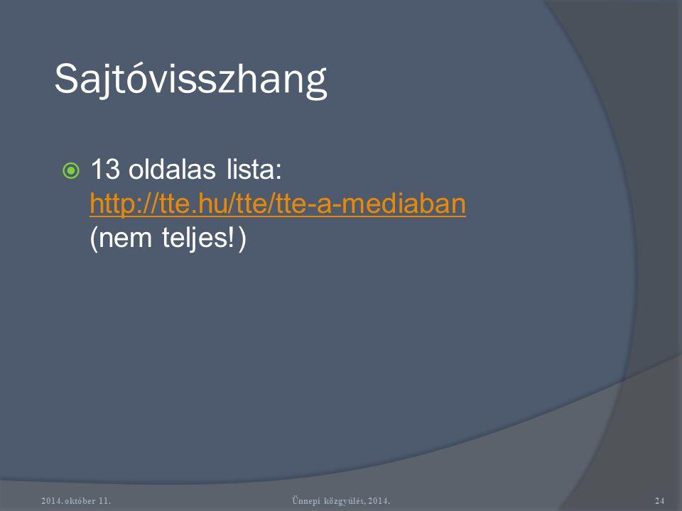 Sajtóvisszhang - 1989 2014. október 11.23Ünnepi közgyűlés, 2014.
