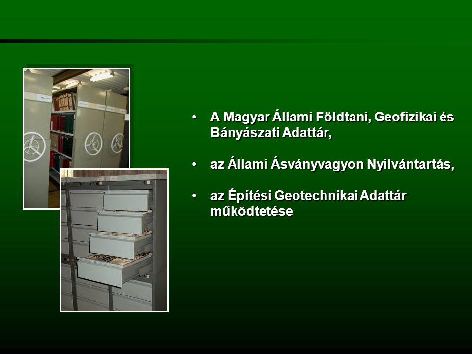 a Földtani és Bányászati Információs rendszer működtetése.a Földtani és Bányászati Információs rendszer működtetése.