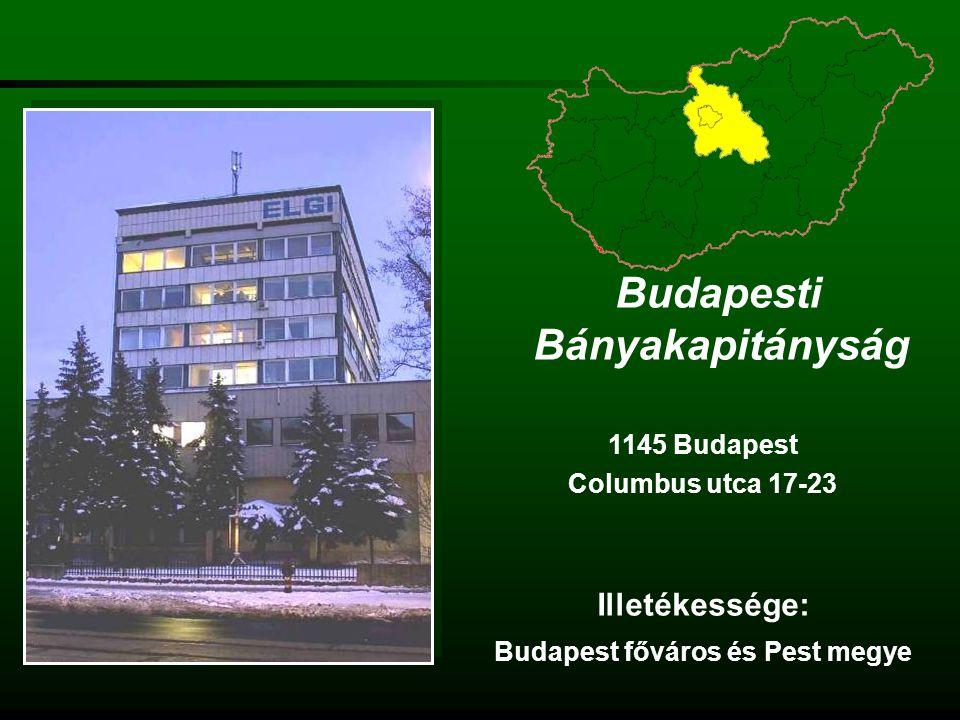 Miskolci Bányakapitányság 3501 Miskolc Soltész N.Kálmán út 5.