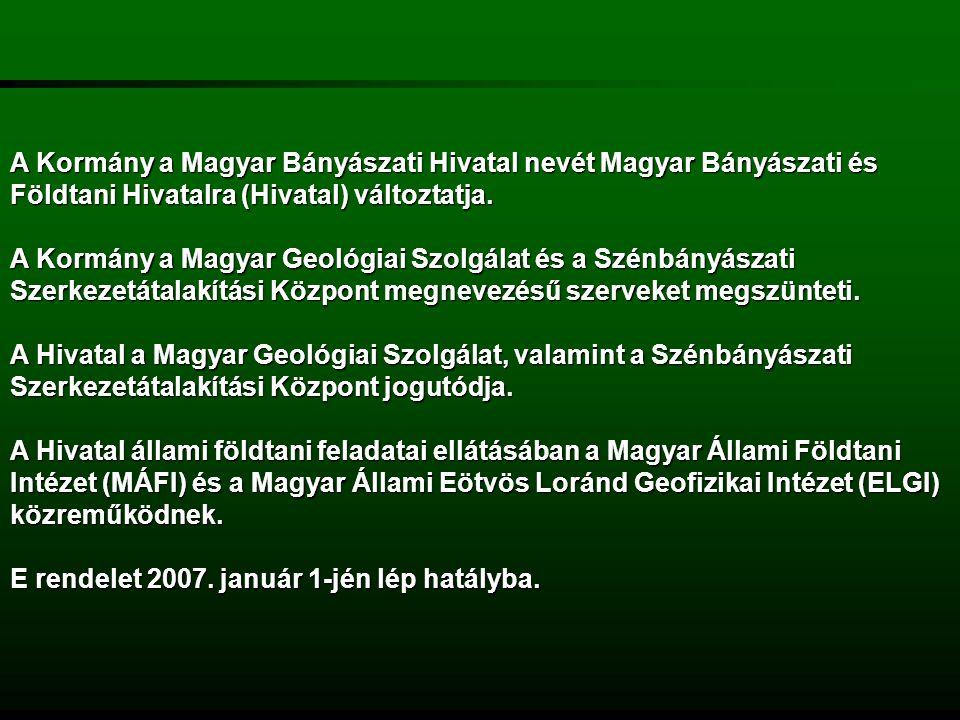 Az MBFH feladatai részben a korábbi Magyar Bányászati Hivatal feladatai: a felügyelete alá tartozó tevékenységek végzése során védje a dolgozók életét, testi épségét és egészségét;a felügyelete alá tartozó tevékenységek végzése során védje a dolgozók életét, testi épségét és egészségét; ellenőrizze az ásványvagyon gazdálkodásra, a környezet-, a táj- és a természetvédelemre, valamint a műszaki biztonságra és a tűzvédelemre vonatkozó szabályok megtartását.ellenőrizze az ásványvagyon gazdálkodásra, a környezet-, a táj- és a természetvédelemre, valamint a műszaki biztonságra és a tűzvédelemre vonatkozó szabályok megtartását.