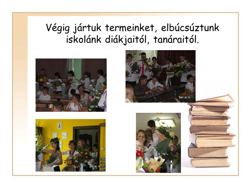 Végig jártuk termeinket, elbúcsúztunk iskolánk diákjaitól, tanáraitól.