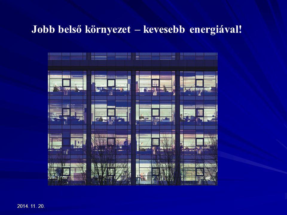 2014. 11. 20.2014. 11. 20.2014. 11. 20. Jobb belső környezet – kevesebb energiával!
