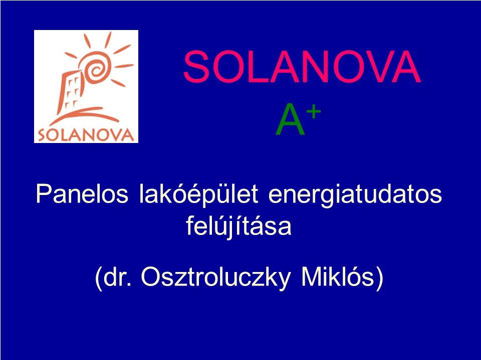 2014. 11. 20.2014. 11. 20.2014. 11. 20. SOLANOVA A + Panelos lakóépület energiatudatos felújítása (dr. Osztroluczky Miklós)
