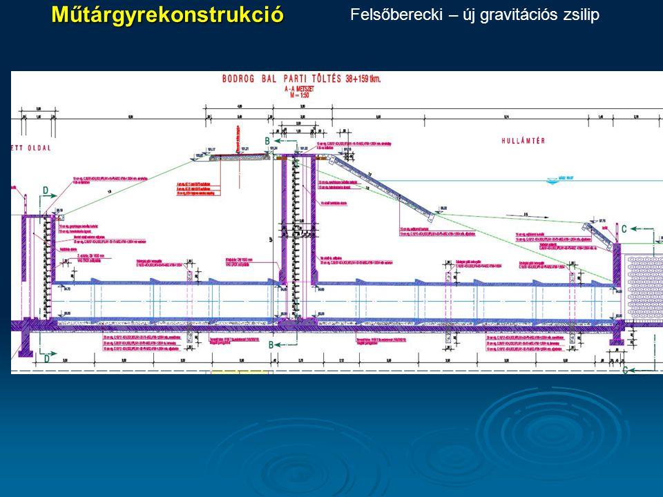 Műtárgyrekonstrukció Felsőberecki – új gravitációs zsilip