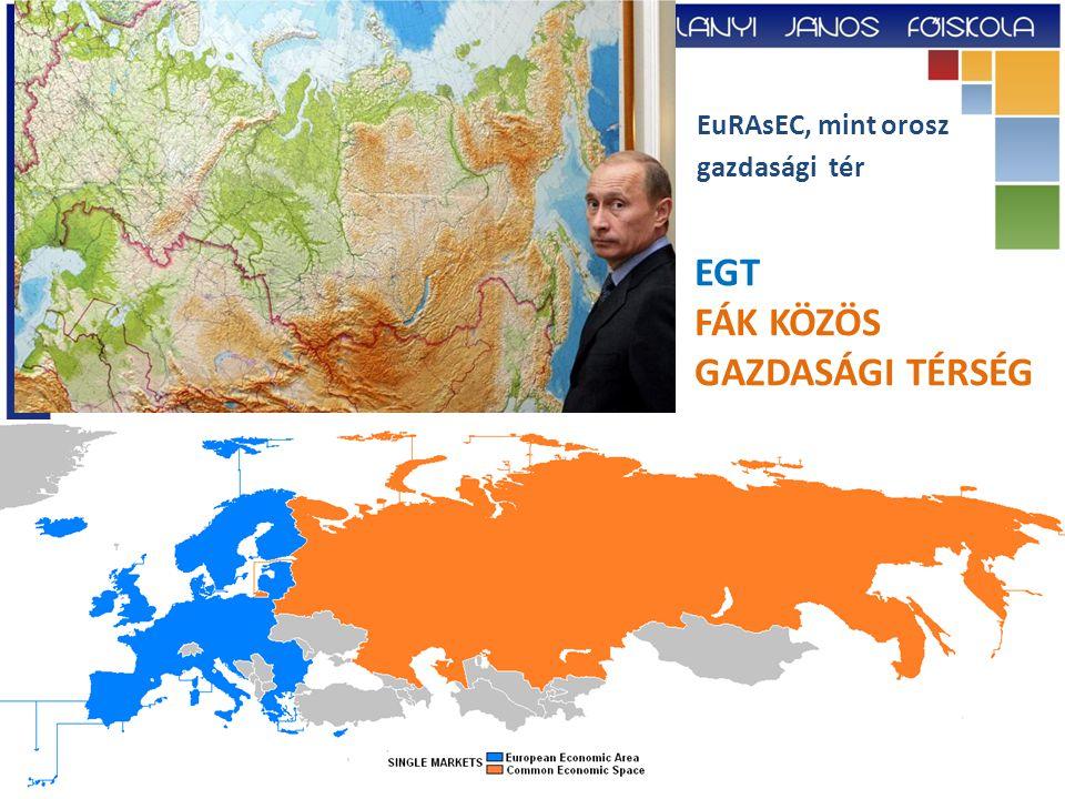 EGT FÁK KÖZÖS GAZDASÁGI TÉRSÉG EuRAsEC, mint orosz gazdasági tér