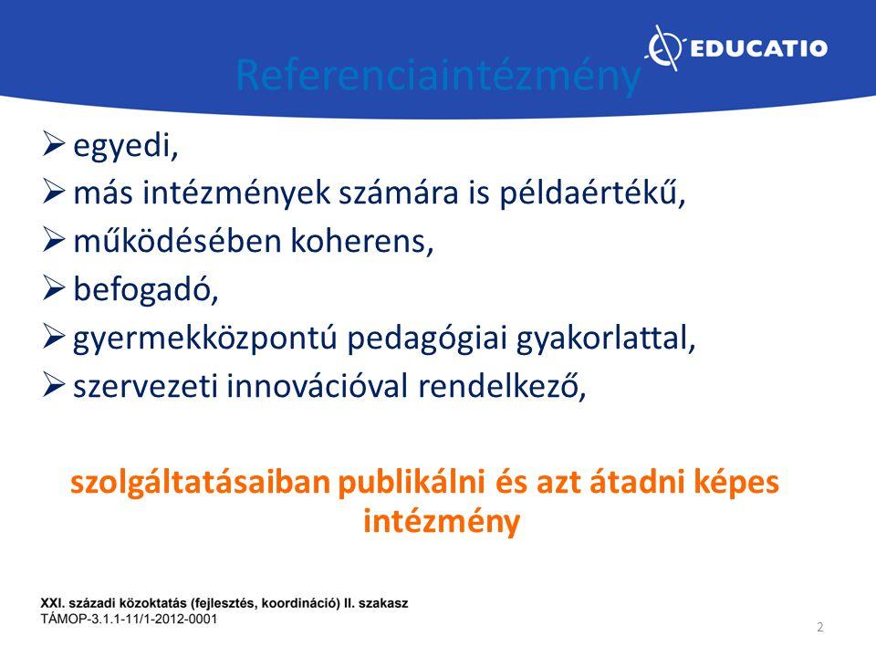 CÉLOK Előnyös különbözőség (Elismertség és ennek a kommunikációs lehetőségei) Hozzáadott érték (pl.: referencia intézmény és a vendég intézmény szempontjából) Innovációs képesség fejlesztése 3