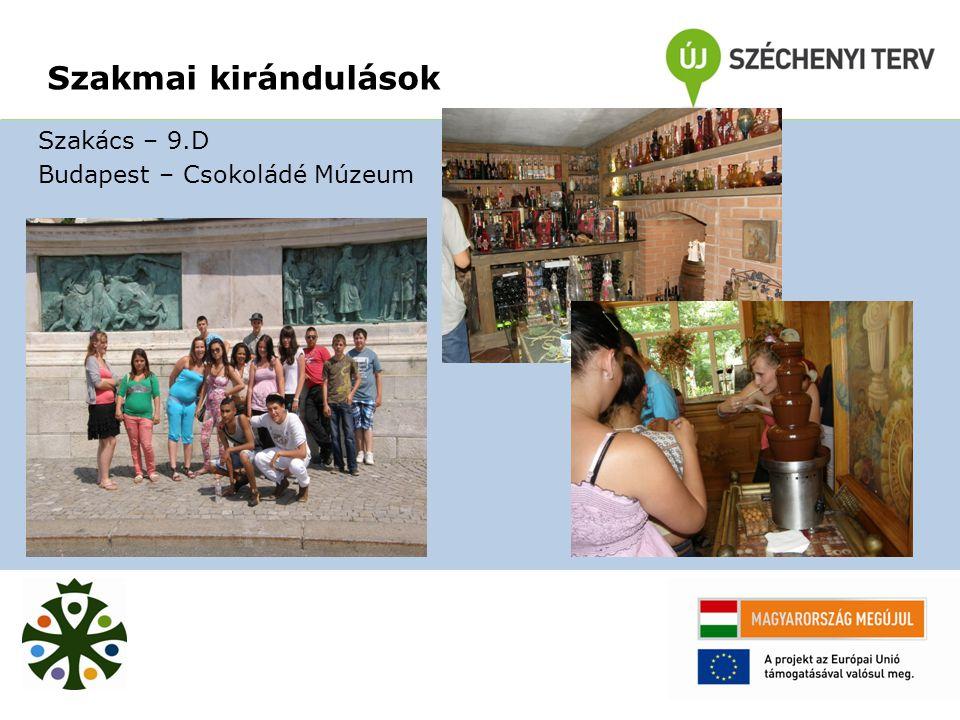 Szakács – 9.D Budapest – Csokoládé Múzeum Szakmai kirándulások