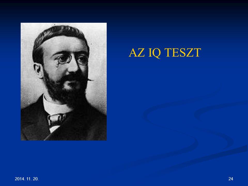 2014. 11. 20. 24 AZ IQ TESZT