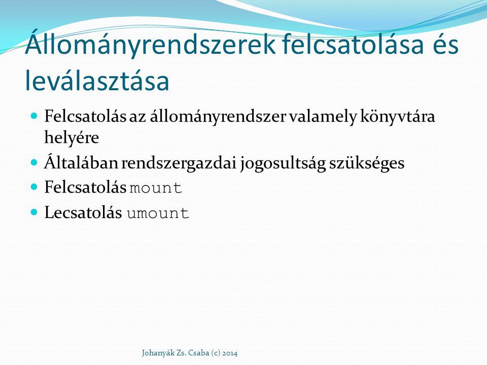 mount Johanyák Zs. Csaba (c) 2014 /dev/hda1 /dev/hda2
