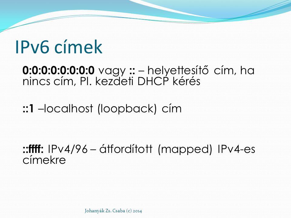 Unicast címek felosztása érvényességi kör szerint Világméretű (mint az IPv4 publikus) Global unicast Lokális (mint az IPv4 privát) Telephely (site) szintű: Site-local ( elavult.