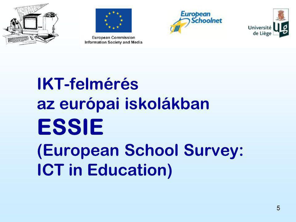 5 IKT-felmérés az európai iskolákban ESSIE (European School Survey: ICT in Education)