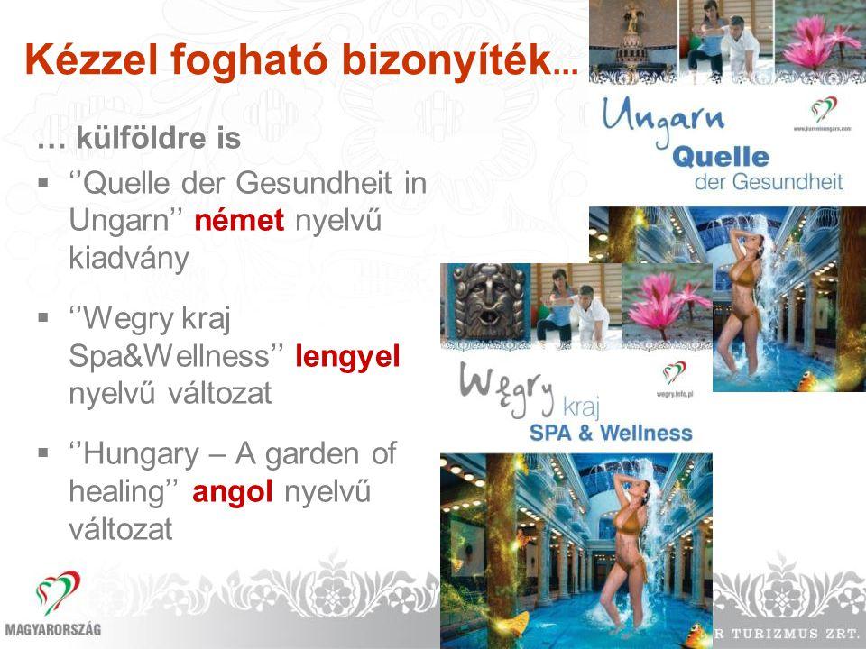 Kézzel fogható bizonyíték... … külföldre is  ''Quelle der Gesundheit in Ungarn'' német nyelvű kiadvány  ''Wegry kraj Spa&Wellness'' lengyel nyelvű v