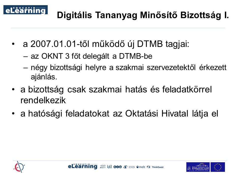 Digitális Tananyag Minősítő Bizottság I.