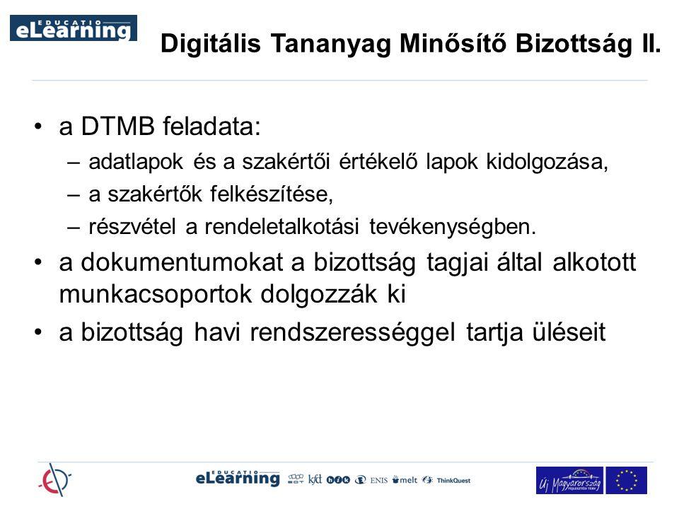 Digitális Tananyag Minősítő Bizottság II.