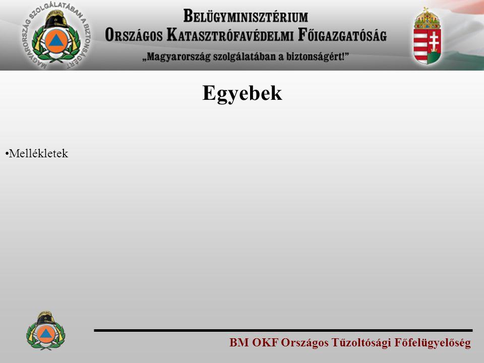 BM OKF Országos Tűzoltósági Főfelügyelőség Egyebek Mellékletek