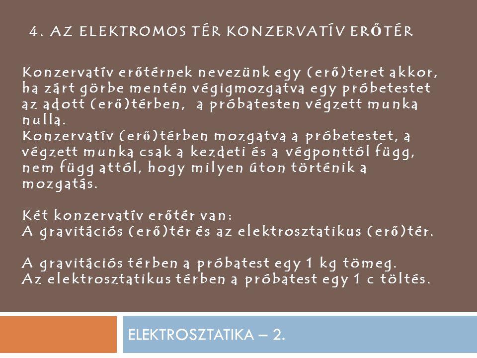 ELEKTROSZTATIKA – 2.4.