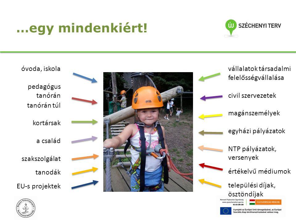 …egy mindenkiért! óvoda, iskola pedagógus tanórán tanórán túl kortársak a család szakszolgálat tanodák EU-s projektek vállalatok társadalmi felelősség