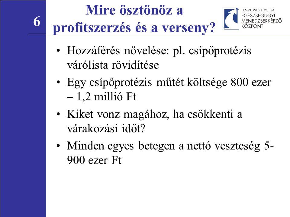 Hozzáférés növelése: pl.