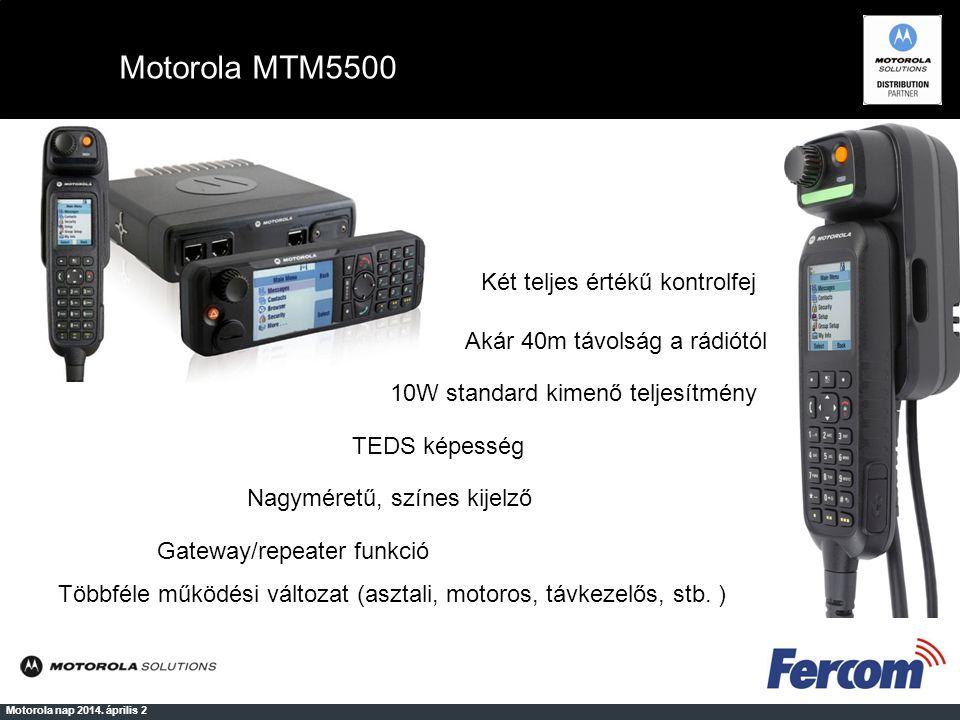 Motorola Tetra rádió terminálok kezelése Motorola nap 2014.