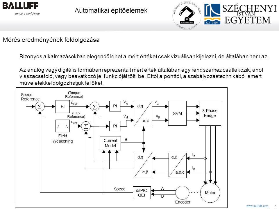 www.balluff.com Automatikai építőelemek 10.08.2014Balluff Kft, CIM Veszprém, Z. Pólik5 Mérés eredményének feldolgozása Bizonyos alkalmazásokban elegen