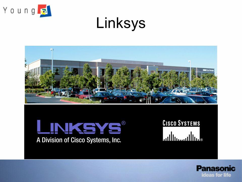 Linksys (rövid története) - 1988 alapították - DSL modem, Router, Switch értékesítés - 2001-ben 1 millió eladott Cable/DSL router - 2002-ben 2 millió eladott Cable/DSL router - 2003 Cisco Systems megvásárolta - 2004 VoIP eszközök értékesítése - 2005-ben 1 millió VoIP eszköz értékesítése az első 6 hónapban