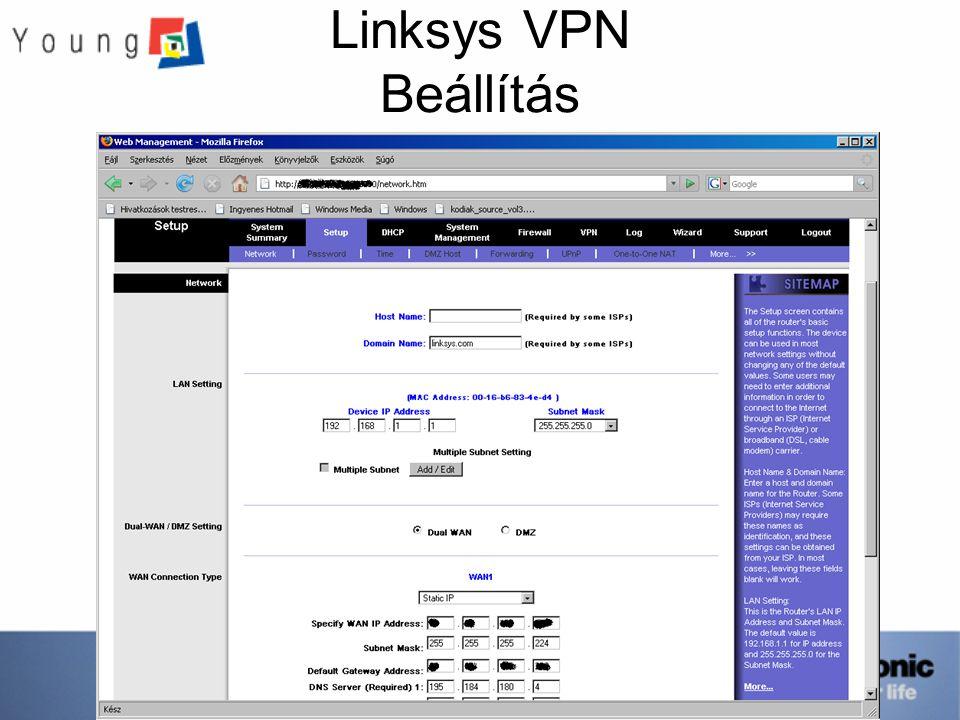 Linksys VPN Beállítás