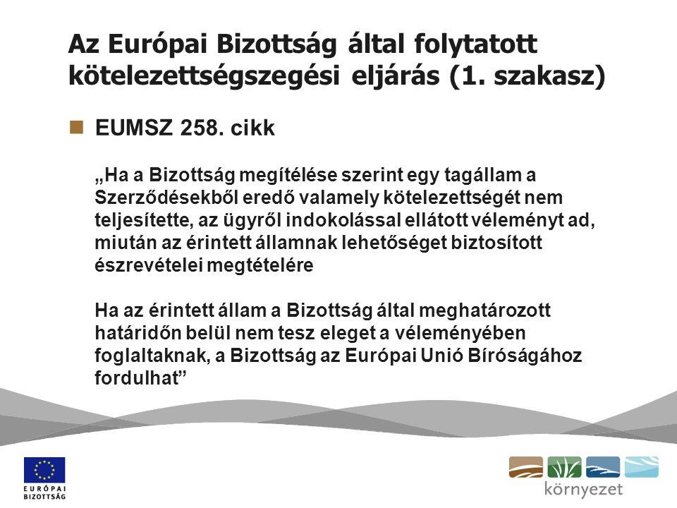 Hogyan működik az EUMSZ 258.cikke szerinti eljárás a gyakorlatban.