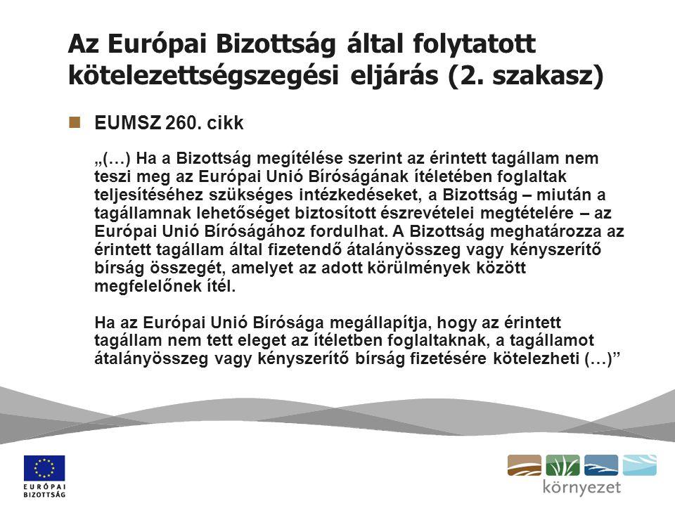 Az Európai Bizottság által folytatott kötelezettségszegési eljárás (2.