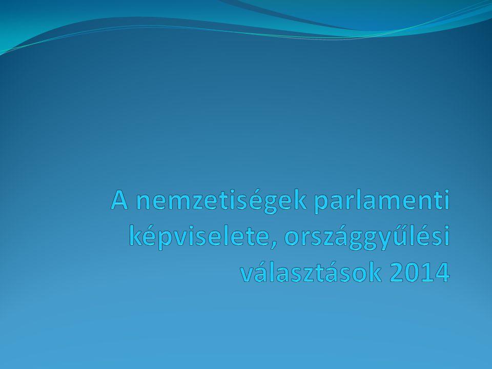1.A jogszabályi háttér: - az országgyűlési képviselők választásáról szóló 2011.