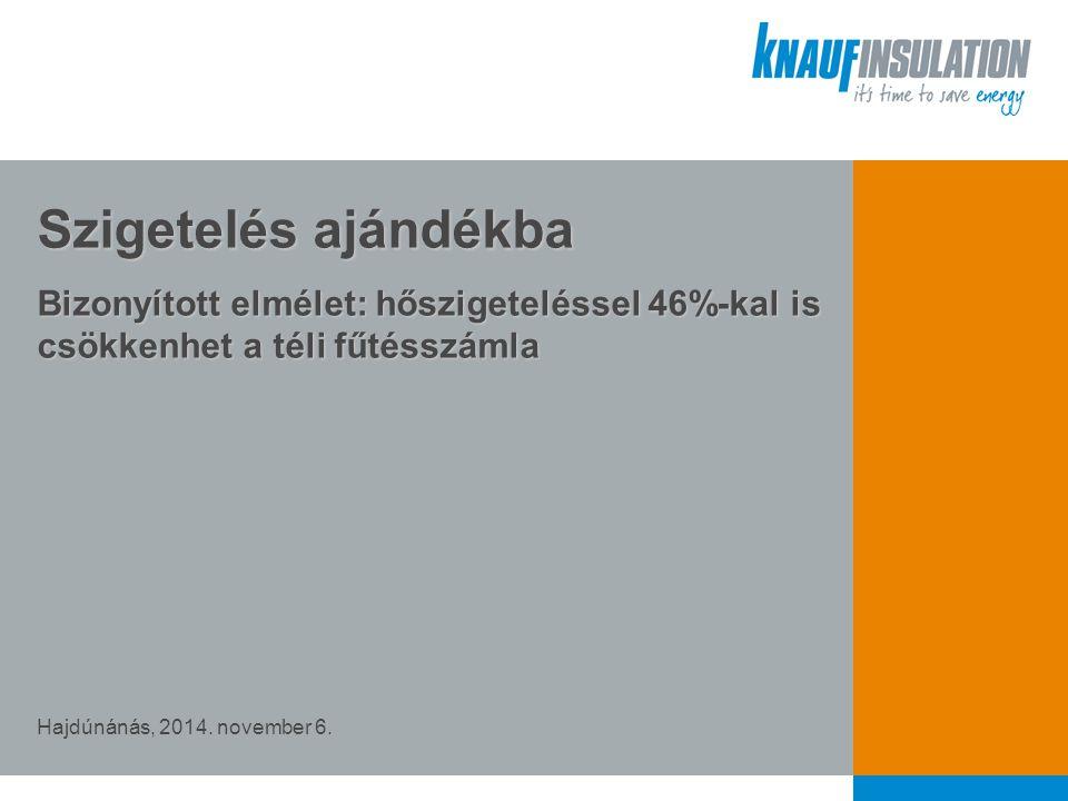 Szigetelés ajándékba Bizonyított elmélet: hőszigeteléssel 46%-kal is csökkenhet a téli fűtésszámla Hajdúnánás, 2014.