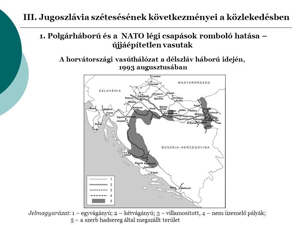 III. Jugoszlávia szétesésének következményei a közlekedésben 1.